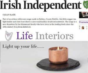 Slated-slate-tableware-slate-plate-plates-copper-slate-candle-Irish