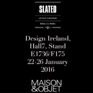 Slated.ie-Maison & Objet-Slate tableware-slate home accessories-Irish Design-Slate plate-Slate plates-