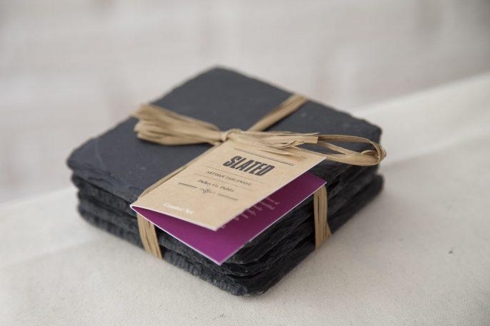 slate tableware, coasters, slate coasters, Slated Ireland, Slated, gift, wedding gift, personalised gift